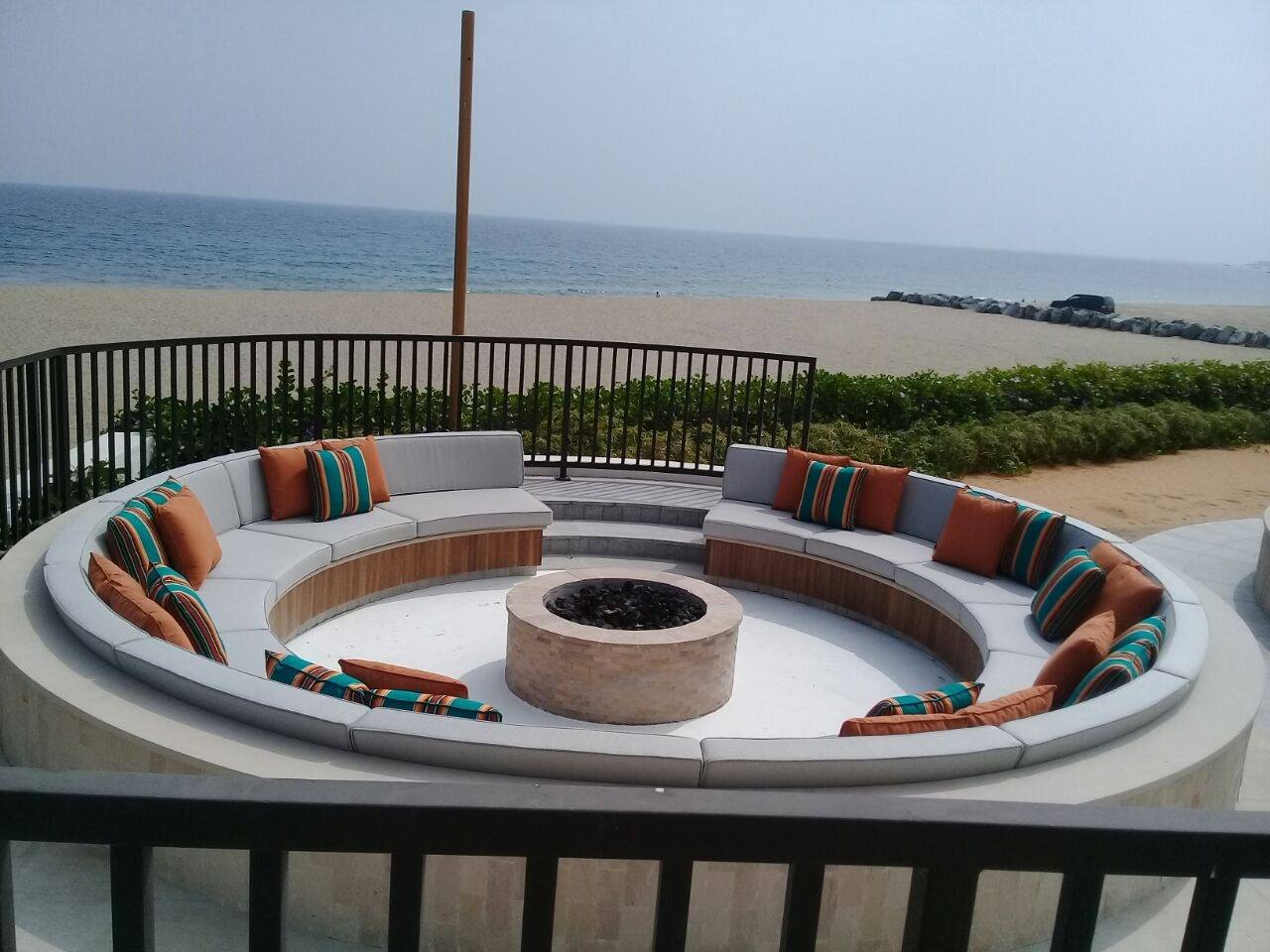 Outdoor cushions in Dubai, 100% dyed acrylic solution fabric.